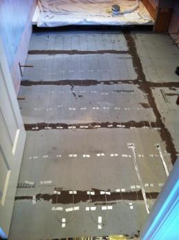 Ensuite shower room underfloor heating installed