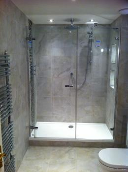 Ensuite shower room tiled and complete