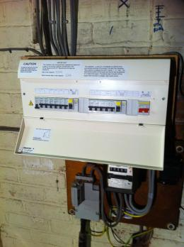 Completed 17th Edition Consumer Unit Installed
